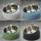 Cat Bowl No Slip Feeder Bowls Stainless Steel Raised Elevated Stand 400ml Tilted