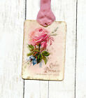 Hang Tags FRENCH CHOCOLATE PINK ROSE TAGS or MAGNET 281 Gift Tags