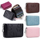 Women Wallet Leather Credit Card Holder RFID Blocking Zipper Thin Pocket US