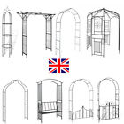 Garden Arch Trellis Arched Metal Tubular Frame Climbing Plant Archway Arbour New