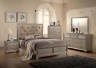 NEW Champagne Gold Queen / King 5PC Bedroom Set Modern Furniture Bed/D/M/N/C