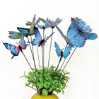 12Pcs Butterfly Metal Stakes Outdoor Yard Lawn Planter Garden Decor Butterfli GY
