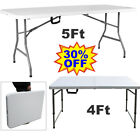 Cheap - Catering Camping Heavy Duty Folding Trestle Table Picnic BBQ Party 4/5ft