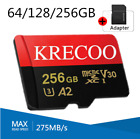Kyпить 64GB 128GB 256GB Krecoo Ultra Micro SD Card Class 10 4K 275MB/s TF Memory Card на еВаy.соm