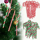 10x Acrylic Candy Cane Canes Sweet Christmas Tree Ornaments Decor Pathway Makers
