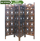 India Hand-Carved Hardwood Room Divider Folding screen luxury 3 or 4 panels