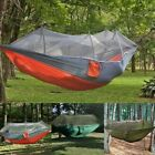 Portable Double Person Travel Camping Hammock Bed Sleeping Swing w/ Mosquito Net
