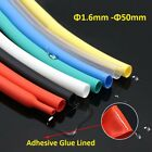 Heat Shrink  1.6mm -  50mm 3:1 Various Colours Tubing Tube Cable/Wire Sleeving