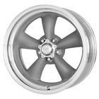1 New 15x4 American Racing Classic Torq Thrust II 1 Pc Gray Wheel 5X120.7 15-4