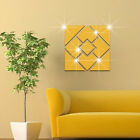 Geometric Mirror Wall Sticker Home Decor Living Room Removable Wall Stickers Ma