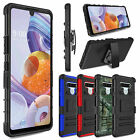 Box Belt Clip Holster Stand Cover Case For LG Stylo 6 +Tempered Glass Protector