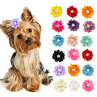 20/200pcs Flower Design Dog Hair Bows for Small Dogs Puppy Grooming Accessories