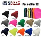 Winter Beanie Knit Hat Skull Solid Ski Hat Skully Hat LOT PURCHASE