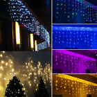 12M LED Curtain Icicle String Light 96LED Fiary Garland Christmas Decor US