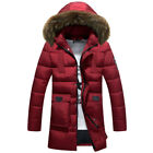 Men's Winter Fur Collar Warm Thick Jacket Hooded Thick Coat cotton warm parka