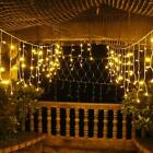 130FT 960LED Curtain Icicle String Fairy Light Lamp Christmas Tree Party Decor
