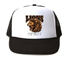 Trucker Hat Cap Foam Mesh School Team Mascot Lions Spirit