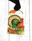 Hang Tags RETRO HAPPY THANKSGIVING TURKEY TAGS or MAGNET 497
