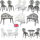 Vintage Garden Chairs French Style Furniture Metal Bistro Patio Cast Iron Set