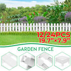 12/24PCS Plastic Fence Backyard Garden Edging Border Panel Flower Yard Decor