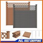 Best! WPC Fence Set Outdoor Garden Panel Lawn Border Posts Square Multi Choice