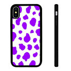 Cow Pattern Purple - Silicone Phone Case Skin Cover fits iPhone SE 6 7 8 X 11 12
