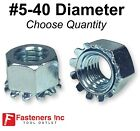 #5-40 K Lock Hex Star Lock Nuts Keps Zinc Plated COARSE Thread (Pick Quantity)