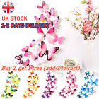 3d Butterfly Wall Stickers Home Decor Room Decoration Sticker Bedroom Girl 12pcs