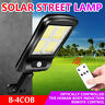 Solar Powered PIR Motion Sensor Light Outdoor Garden Security Wall Light Remote