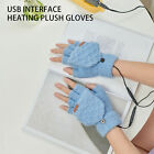 Unisex Winter Electric USB Heating Gloves Warm Full Half Finger Charge Mittens E