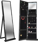 79 LED Jewelry Armoires,Jewelry Storage Cabinets,Standing Wall Jewelry Organizer