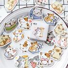 45pcs/box Kawaii Cats Stickers Journal Scrapbooking DIY Seal Decorative Sticker