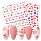 3D Nail Stickers Colorful Valentine s Day Love Heart Nail Art Transfer Decals