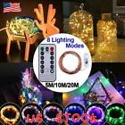 USB Plug In 200 LED Micro Copper Wire String Fairy Lights Xmas Party Light Decor