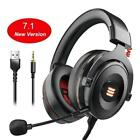 Gaming Headset Led USB 3.5mm Wired Virtual 7.1 Surround Sound Headphone For Xbox