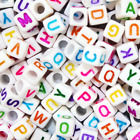 200 Alphabet Letter Mixed Colour Beads Gems Kids Girls DIY Jewellery Xmas Gift