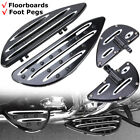 Front Rear Floorboards Foot Pegs Fit For Harley Touring Glide Softail Dyna CVO