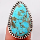 Natural Rare Turquoise Nevada Aztec Mt 925 Sterling Silver Ring Jewelry s.6 1775