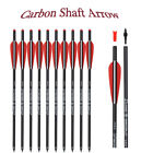 12XCarbon Crossbow Bolts Arrows Hunting Target Replacement Field Tip 16-22''