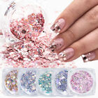 3D Nail Glitter Sequins Flakes Mixed Mirror Hexagon Paillette Nail Art Decor DIY