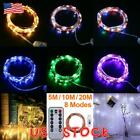 50/100/200 LED USB Twinkle LED String Fairy Lights Copper Wire Xmas Party Remote