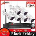 8CH CCTV Security Cameras System Outdoor Wireless Home Surveillance WIFI 4 6PCS