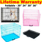 Cages Dog Cage Pet Puppy Crate Carrier Home Folding Door Training Kennel S M L X