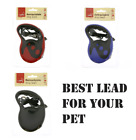 My Pet Dog Leads Rope Retractable Dog Lead Extending Leash Tape Cord 5m Max 20kg