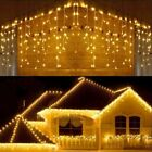 Christmas LED Icicle Hanging Wall Curtain Fairy String Lights 5M Party Wedding