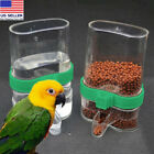 Pet Bird Acrylic Automatic Cage Water Food Feeder Parrot Cockatiel Canary XYUS