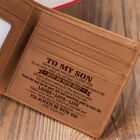 To My Son From Dad Father Wallet Christmas Birthday Graduation Wedding Xmas Gift