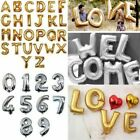 """16"""" Letter  Number Foil Balloons Birthday Wedding Party Decoration Gold Silver"""