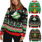 Mens Womens Couple Matching Christmas Xmas Grinch Jumper Tops Sweaters Pullover