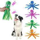8 Legs Octopus Soft Stuffed Plush Squeaky Dog Squeakers Toy Dog Chew Bite Toy UK